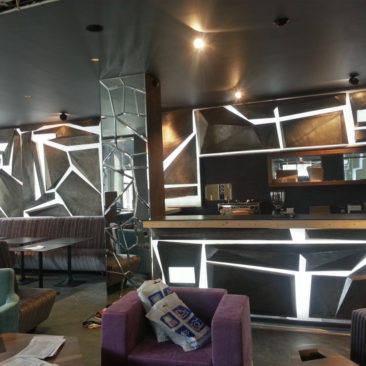 Интерьерная подсветка ресторана BULI