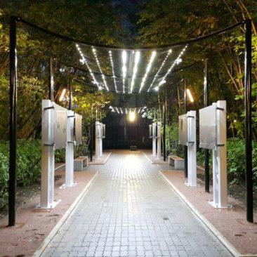 Проект освещения и иллюминации в сквере города Мурманск