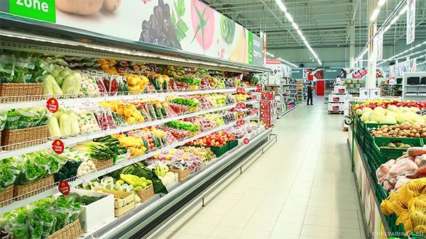 Светодиодное освещение гипермаркетов